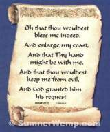 Jabez's Prayer Plaque
